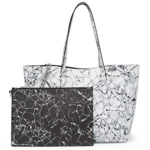 NWT Kendall & Kylie Marble Tote Bag & Pouch